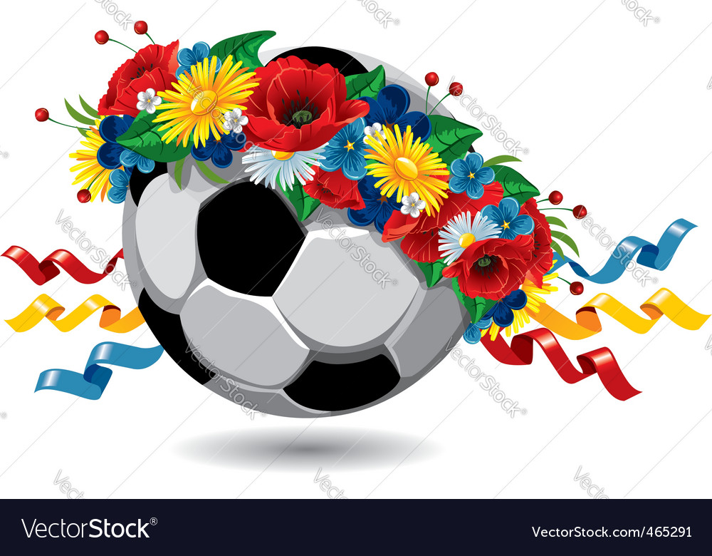 Soccer ball euro 2012 symbol vector | Price: 3 Credit (USD $3)