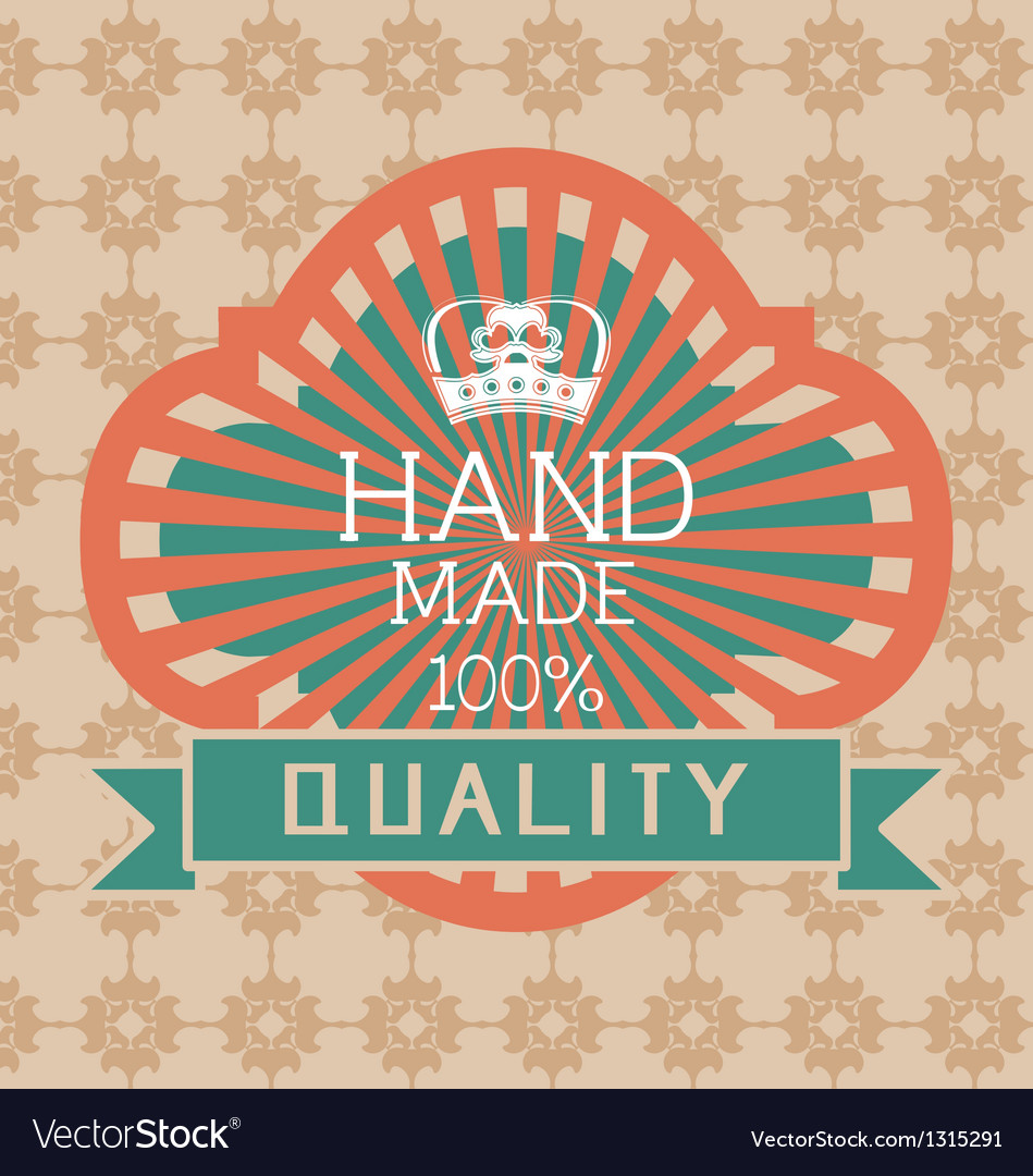Vintage label style with design element vector   Price: 1 Credit (USD $1)