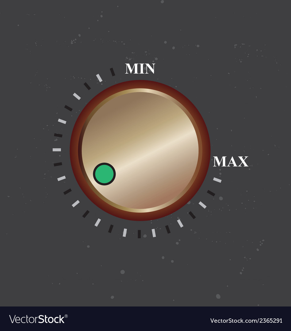 Volume knob vector | Price: 1 Credit (USD $1)