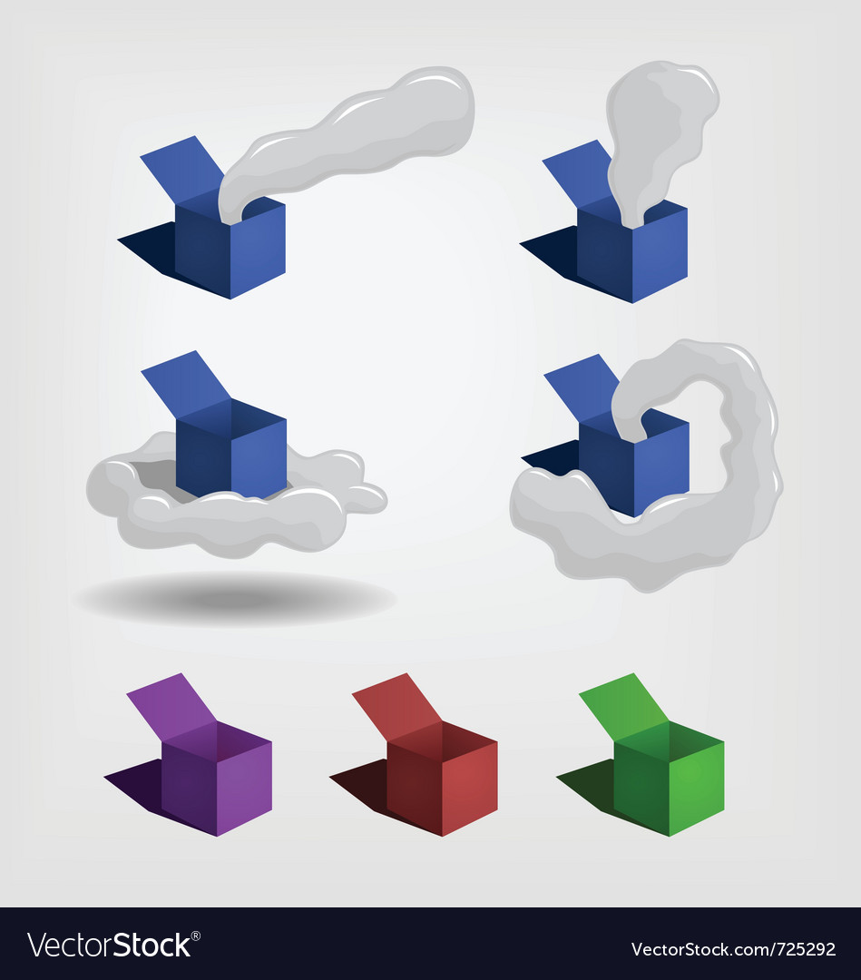 Box and smoke vector | Price: 1 Credit (USD $1)
