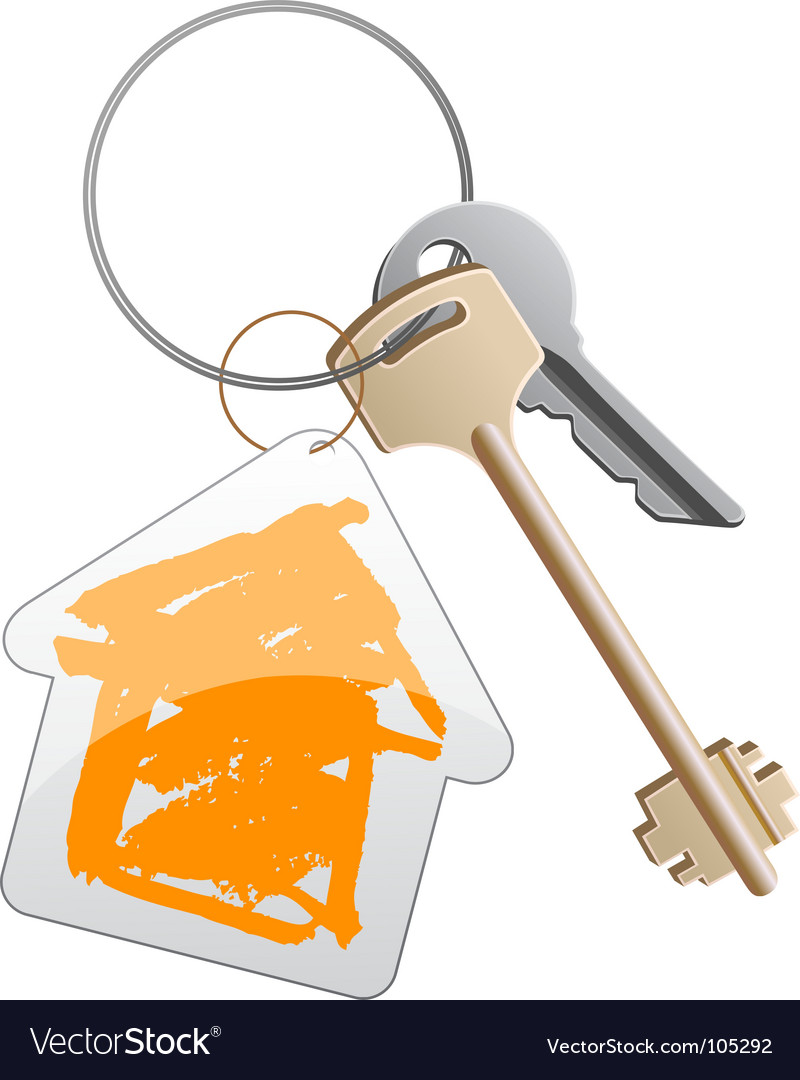 Keys with trinket vector | Price: 1 Credit (USD $1)