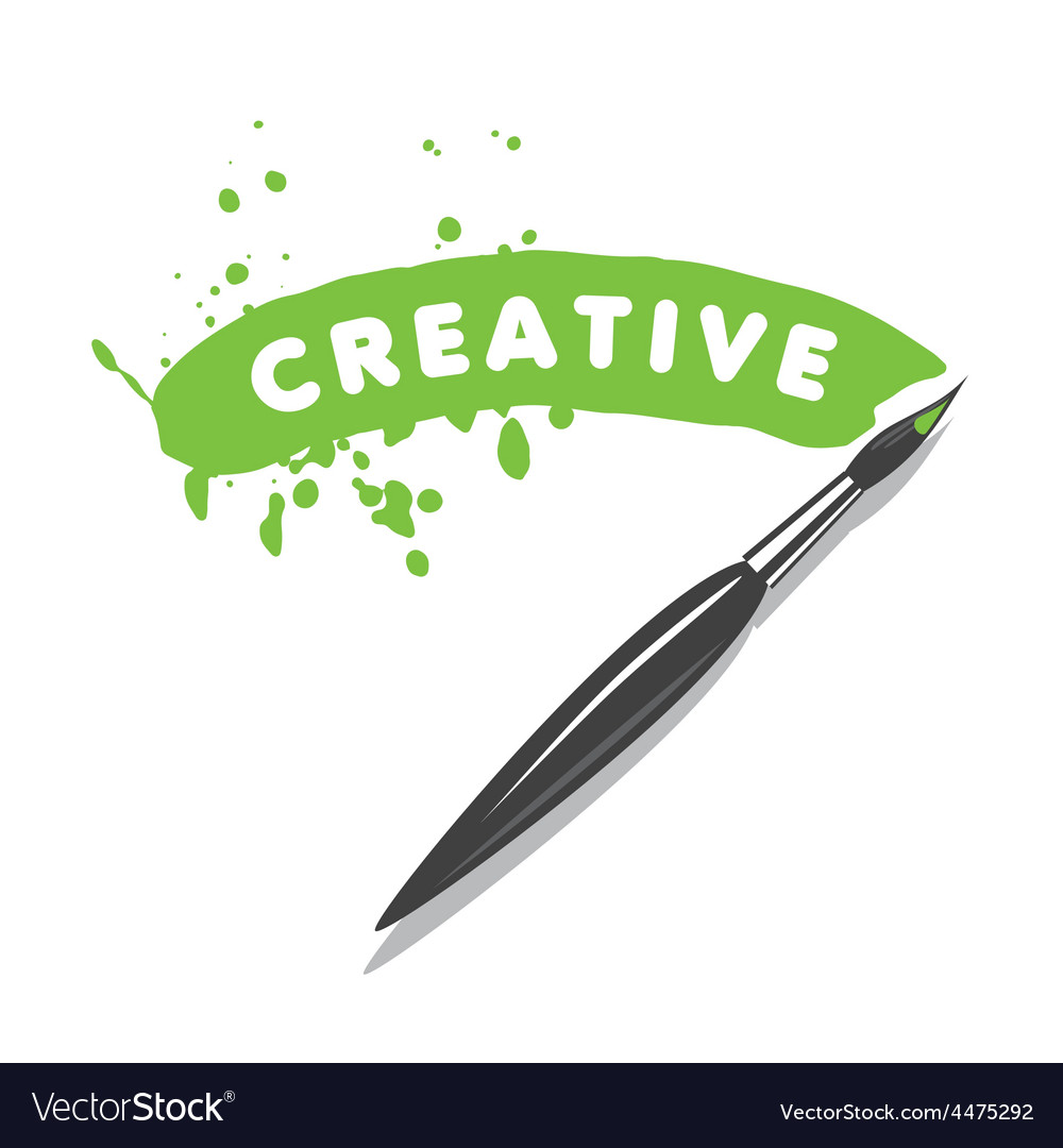 Logo brush and green paint vector | Price: 3 Credit (USD $3)