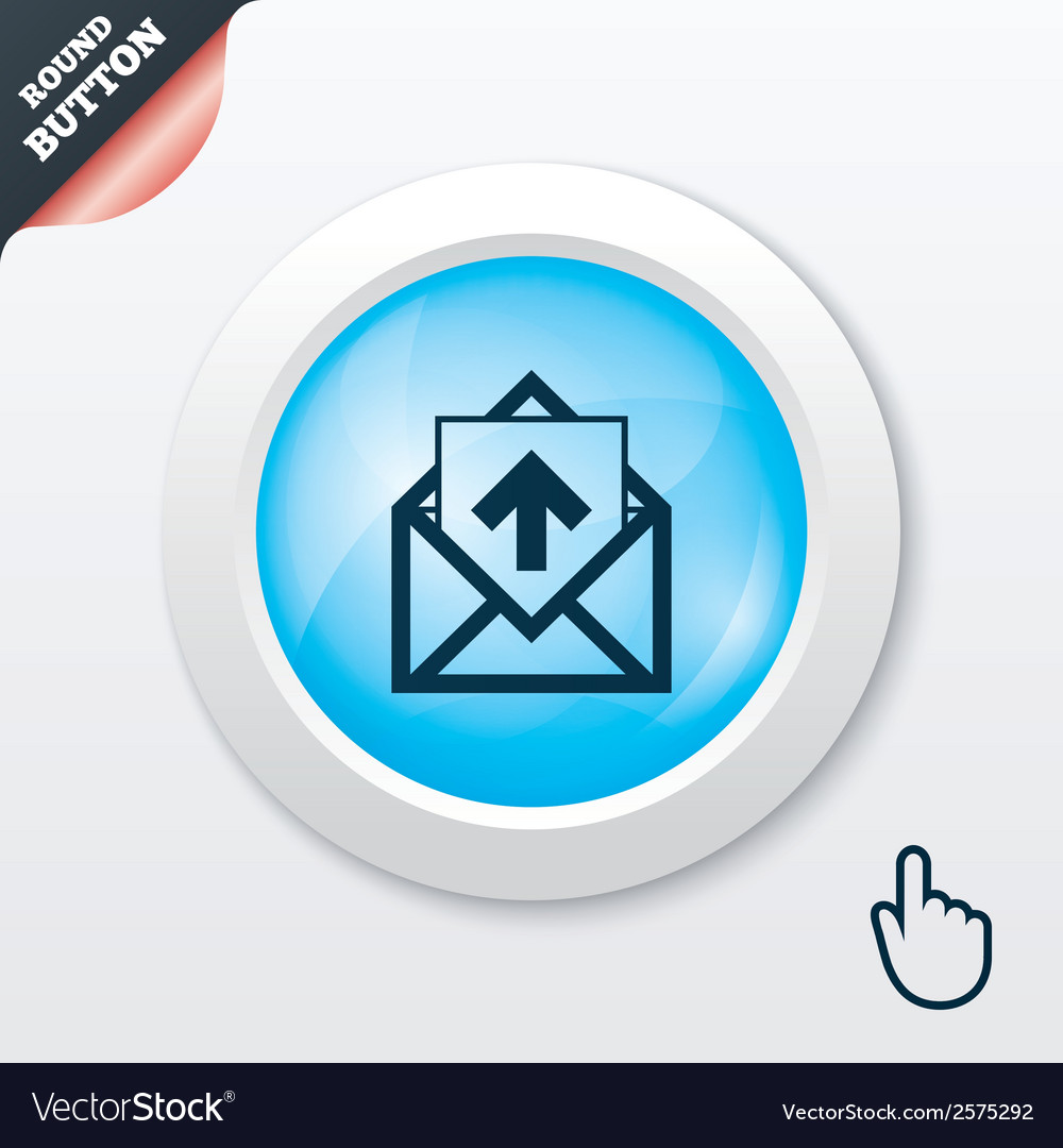Mail icon envelope symbol outbox message sign vector | Price: 1 Credit (USD $1)