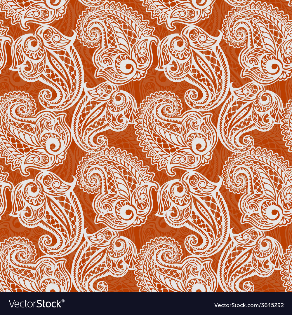 Paisley seamless lace pattern vector | Price: 1 Credit (USD $1)