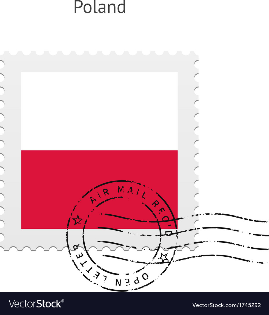 Poland flag postage stamp vector | Price: 1 Credit (USD $1)
