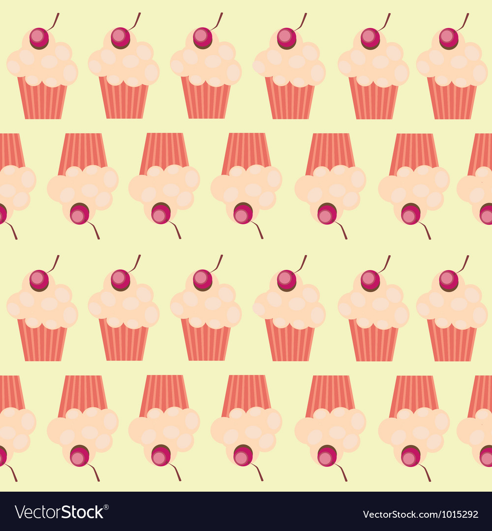 Seamless cake pattern vector | Price: 1 Credit (USD $1)
