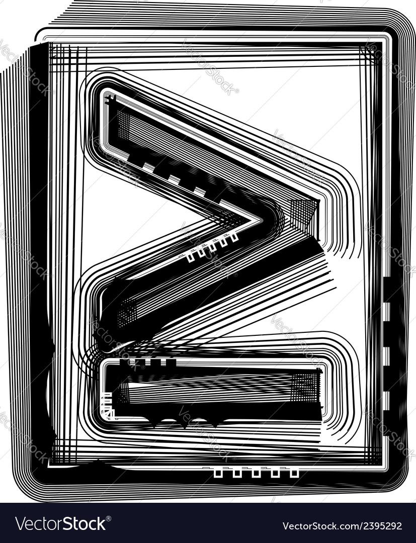 Striped symbol vector | Price: 1 Credit (USD $1)