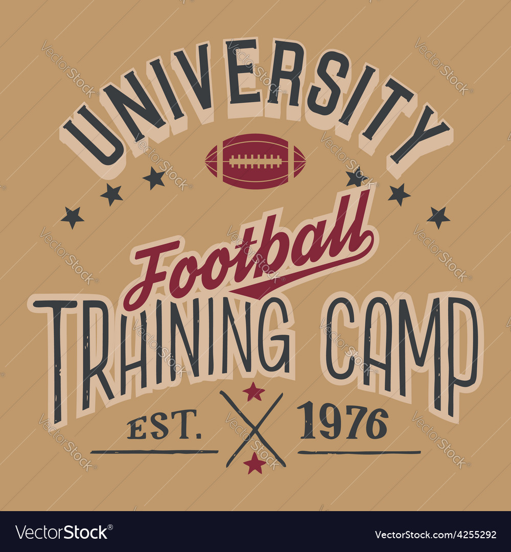 University football training camp vector | Price: 1 Credit (USD $1)