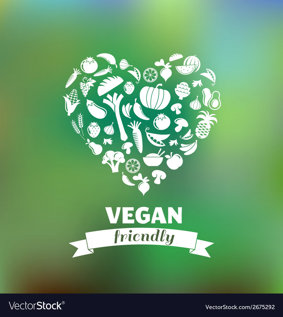 Vegetarian and vegan healthy organic background vector | Price: 1 Credit (USD $1)