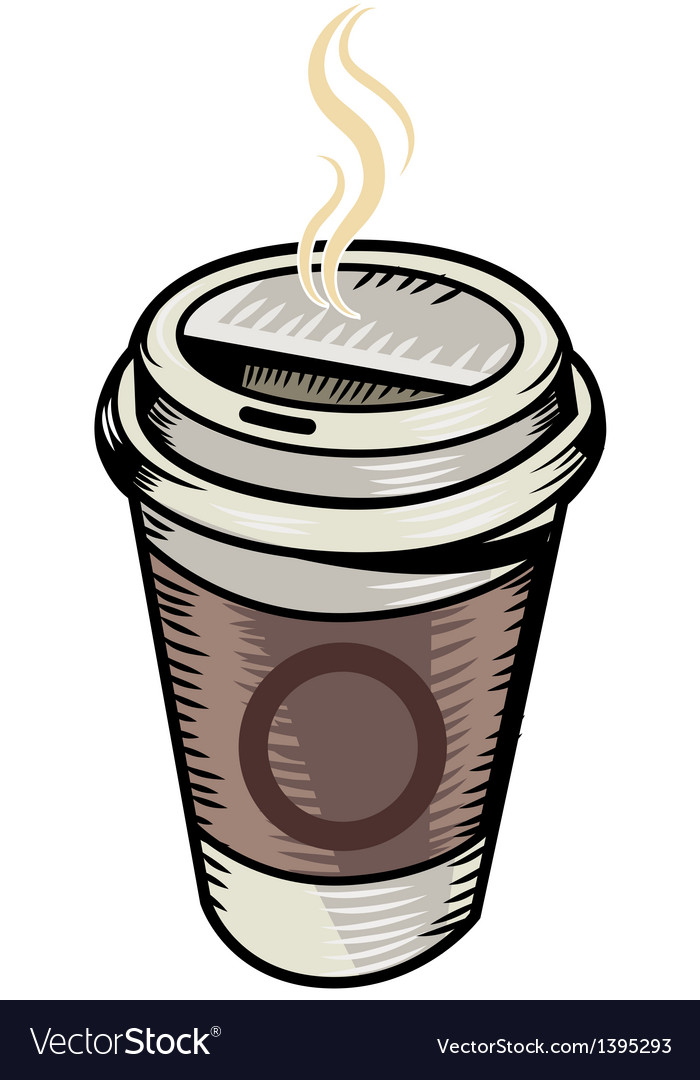 A coffee is placed vector | Price: 1 Credit (USD $1)