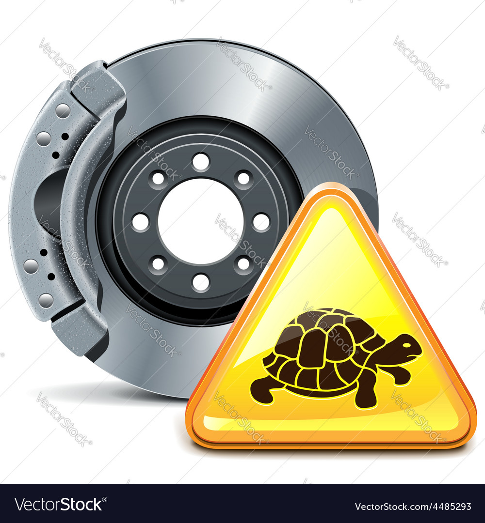 Brake with sign vector   Price: 5 Credit (USD $5)