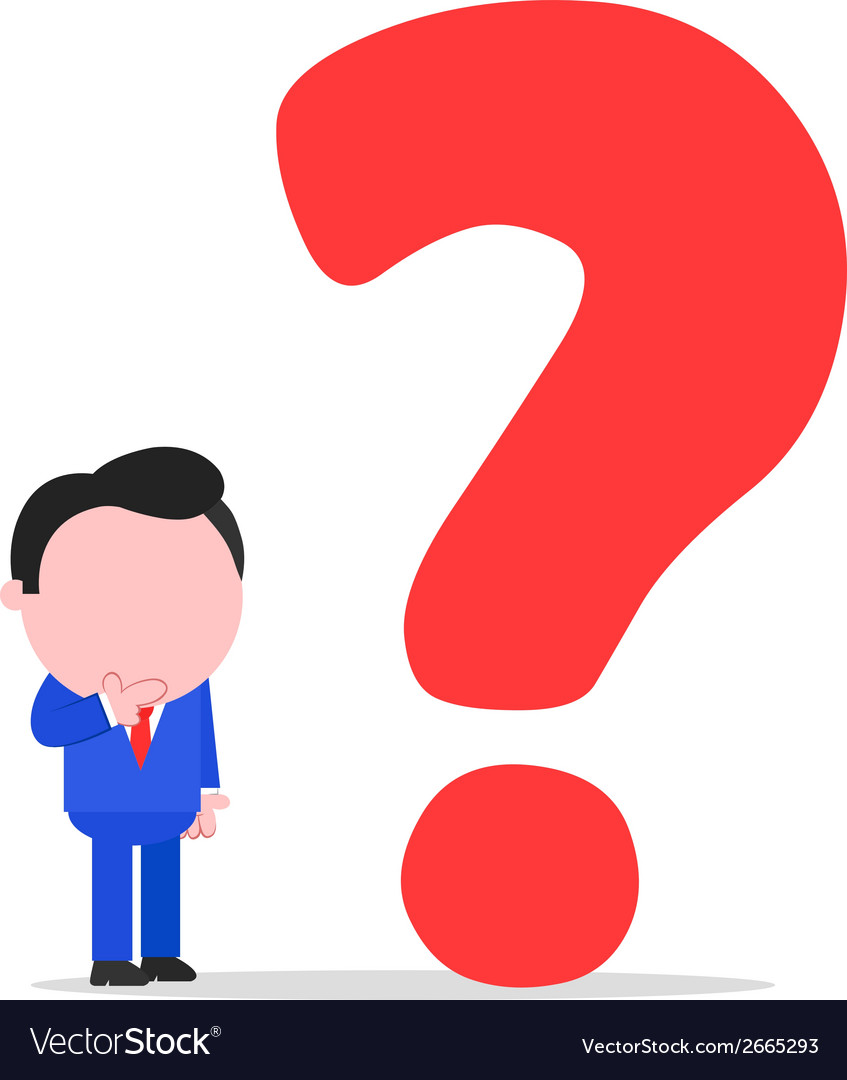 Businessman with big question mark vector | Price: 1 Credit (USD $1)