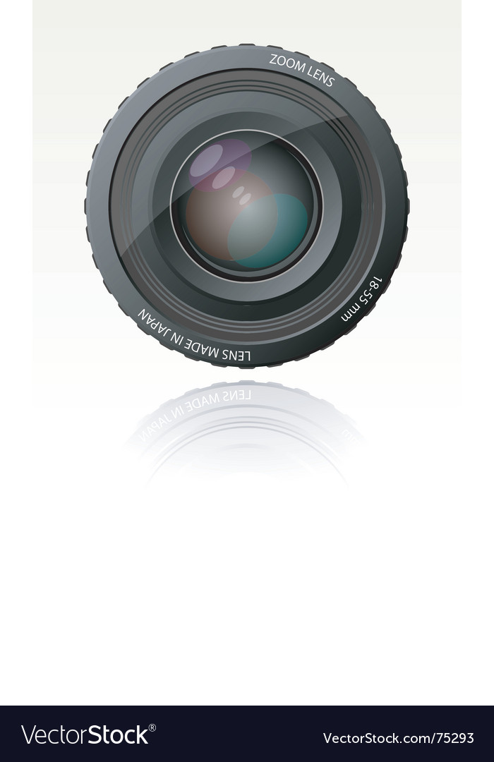 Camera zoom lens vector | Price: 3 Credit (USD $3)