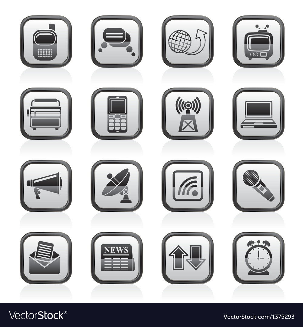 Communication and connection icons vector   Price: 1 Credit (USD $1)