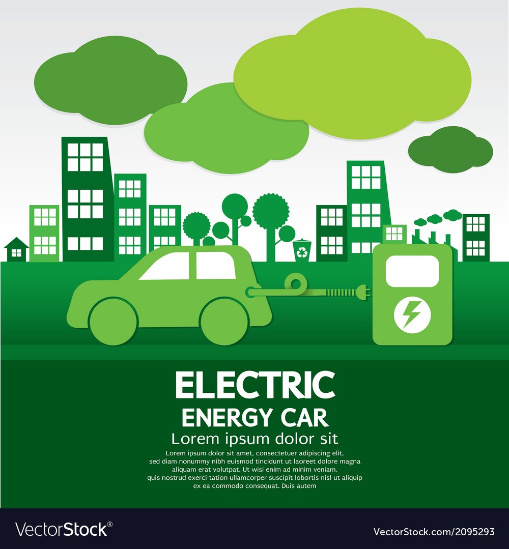 Electric energy car vector | Price: 1 Credit (USD $1)
