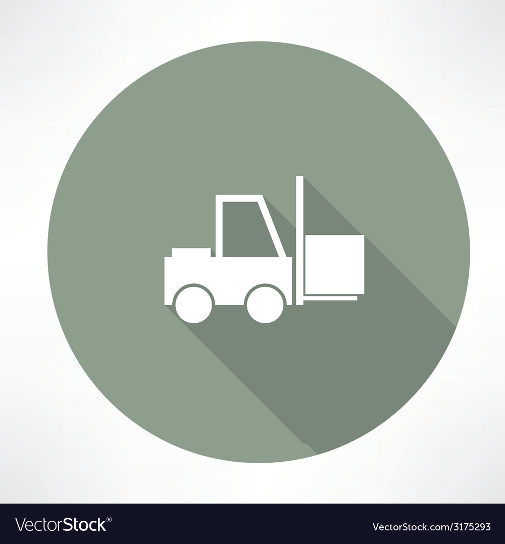 Fork lift icon vector | Price: 1 Credit (USD $1)