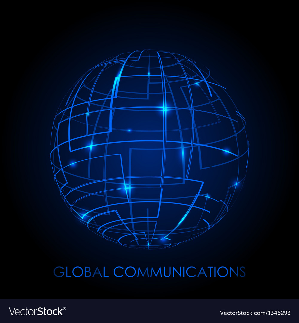 Global communications - background vector | Price: 1 Credit (USD $1)