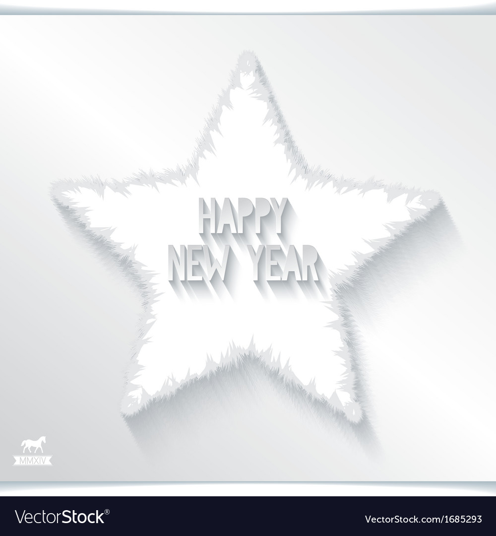 Happy new year greeting card with 3d star vector | Price: 1 Credit (USD $1)