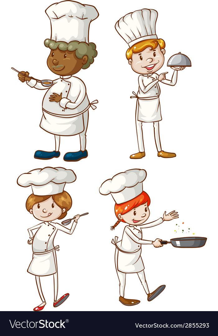 Male and female chefs vector | Price: 1 Credit (USD $1)