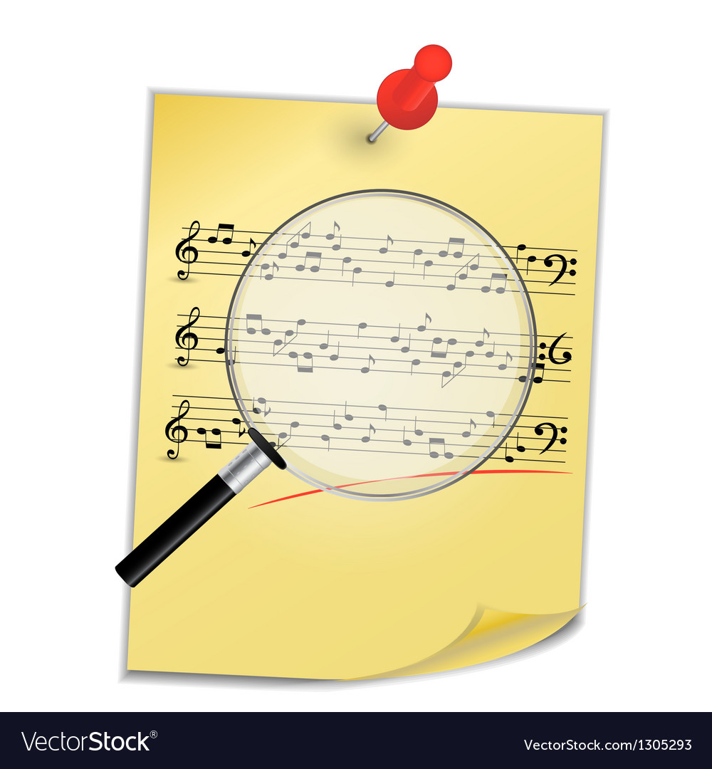 Musical notes abstract background vector | Price: 1 Credit (USD $1)