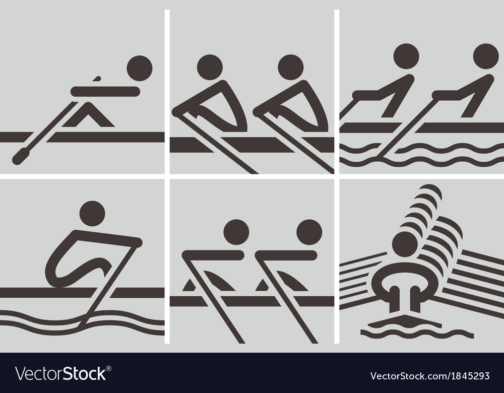 Rowing icons vector | Price: 1 Credit (USD $1)