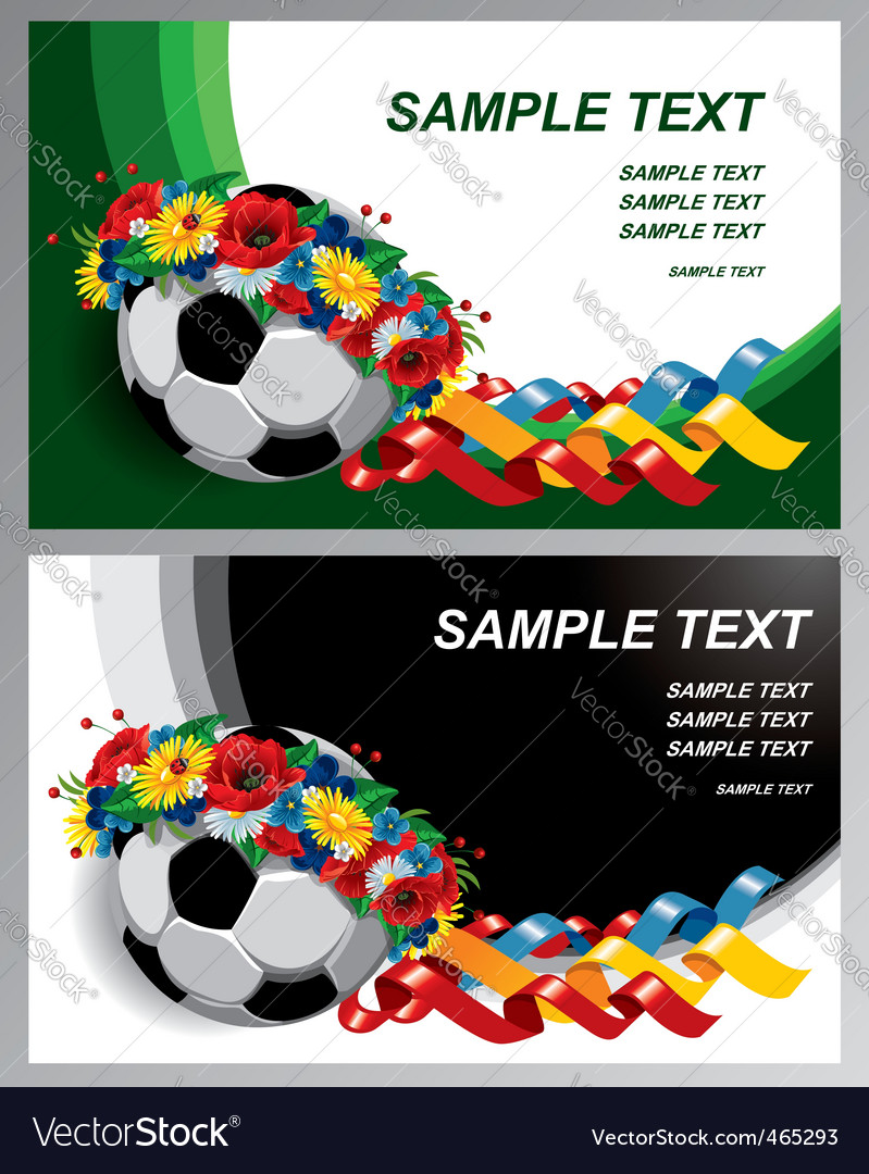 Soccer euro 2012 background vector | Price: 3 Credit (USD $3)