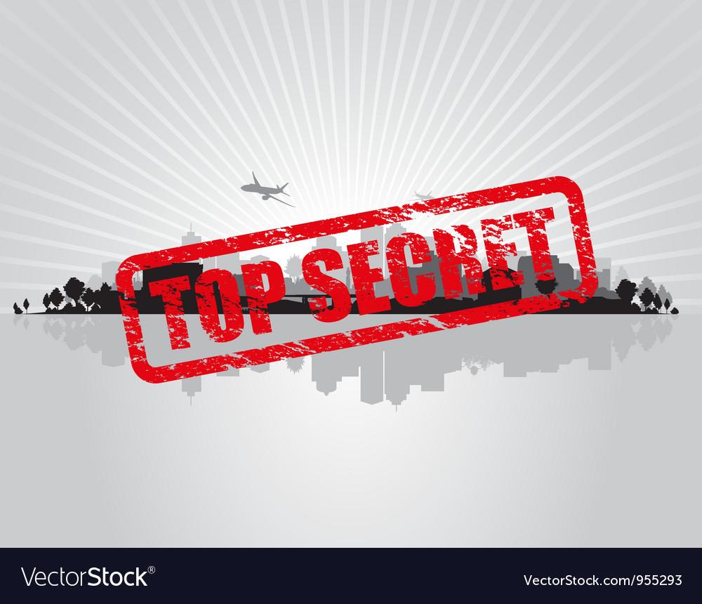Top secret city vector | Price: 1 Credit (USD $1)