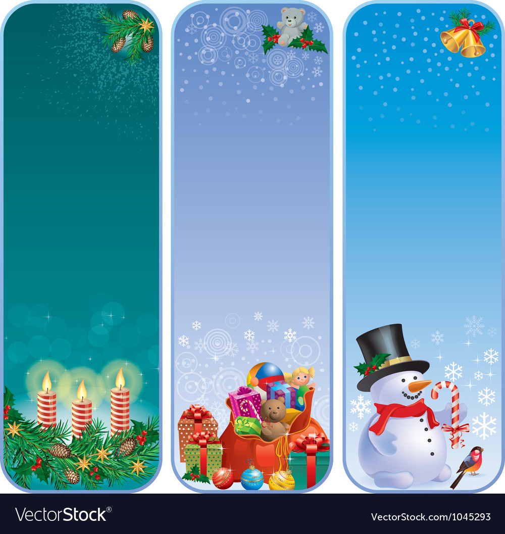 Vertical christmas banners vector | Price: 3 Credit (USD $3)