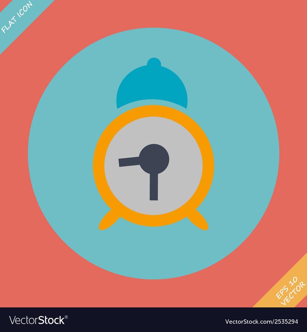 Alarm clock icon - vector | Price: 1 Credit (USD $1)