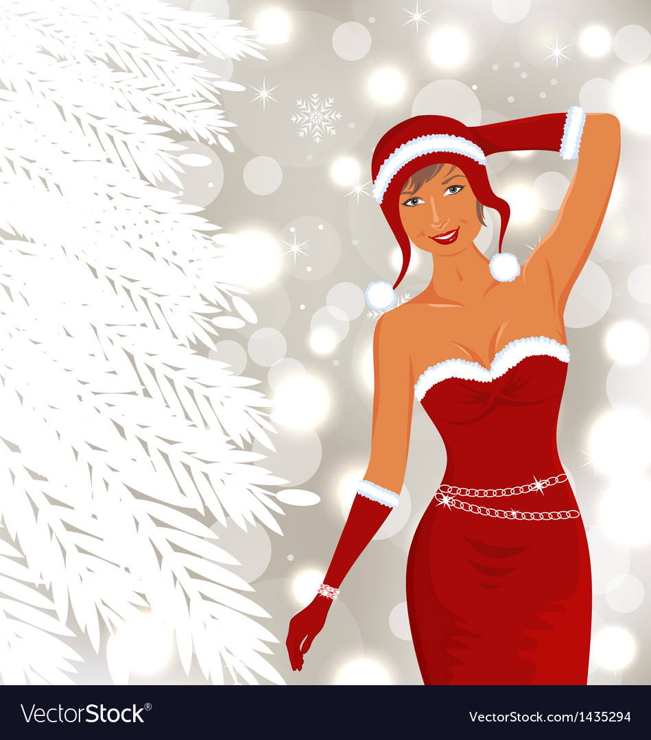 Christmas beautiful disco diva holiday background vector | Price: 1 Credit (USD $1)