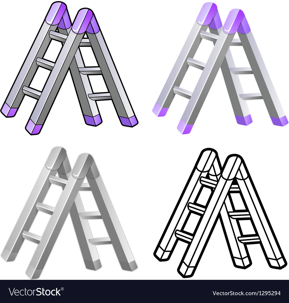 Different styles of ladder sets vector | Price: 1 Credit (USD $1)