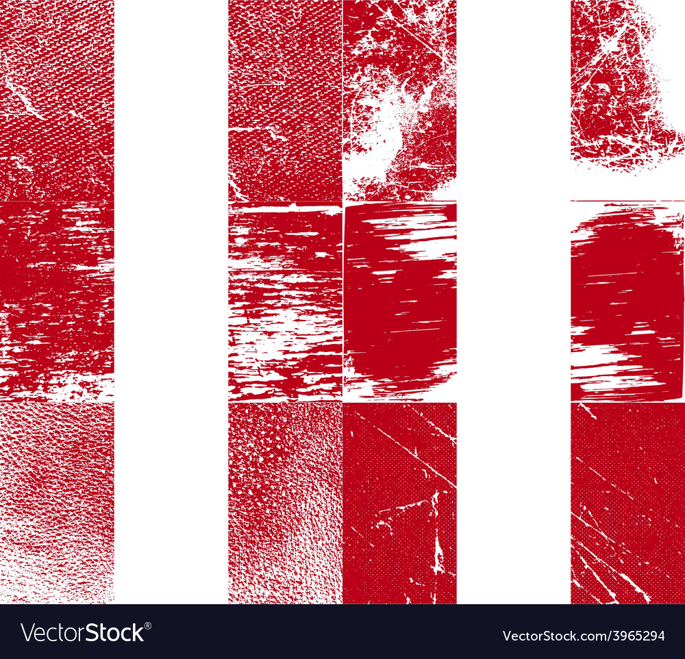 Flag of peru with old texture vector | Price: 1 Credit (USD $1)