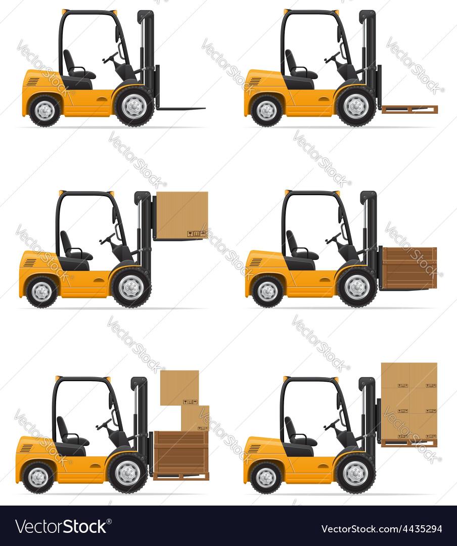 Forklift truck 07 vector | Price: 3 Credit (USD $3)