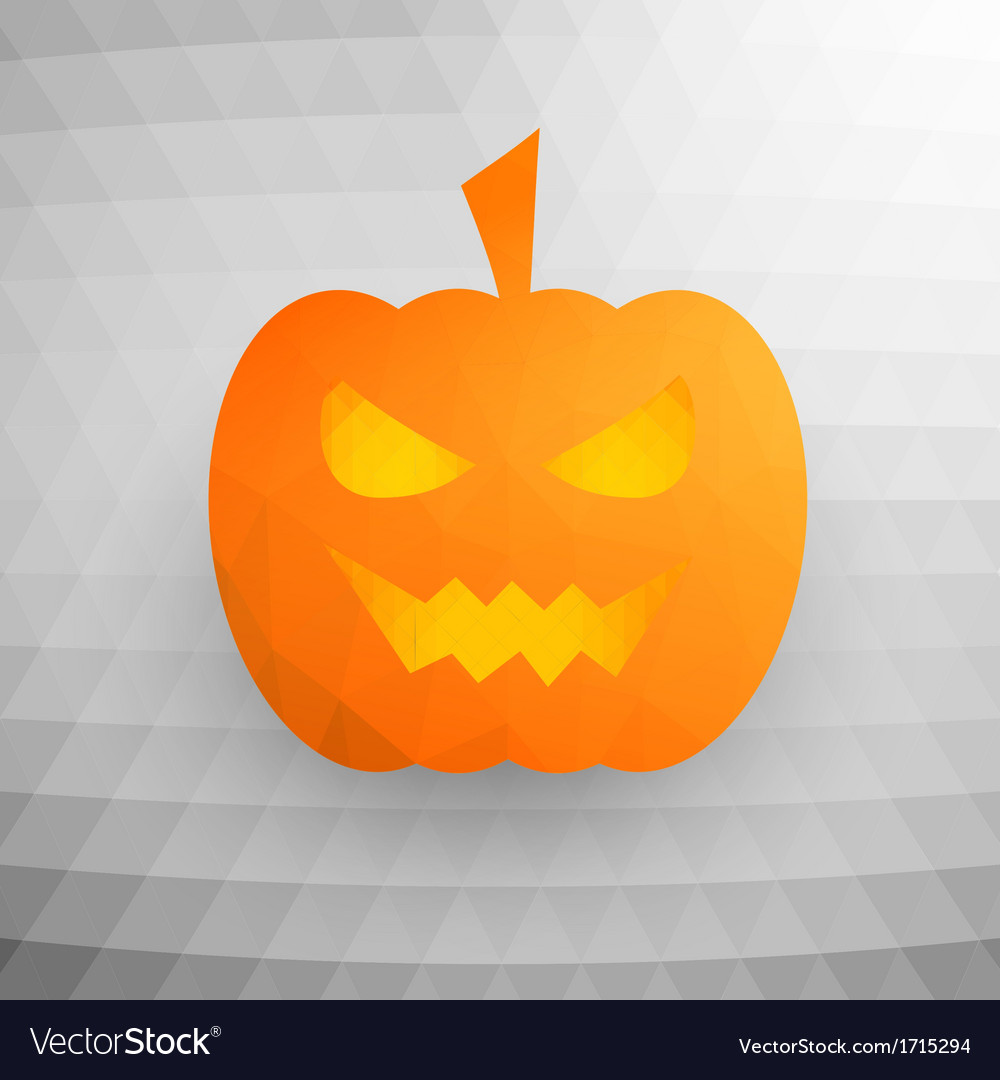 Halloween pumpkin on abstract mosaic background vector | Price: 1 Credit (USD $1)