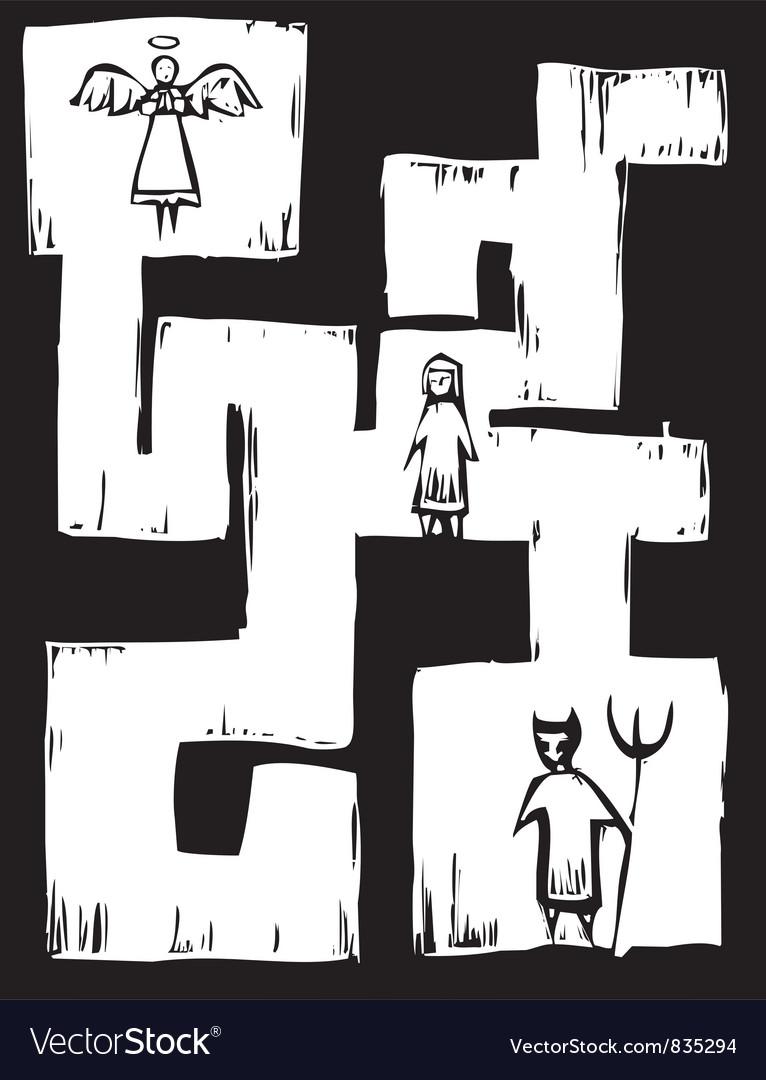 Life maze vector | Price: 1 Credit (USD $1)