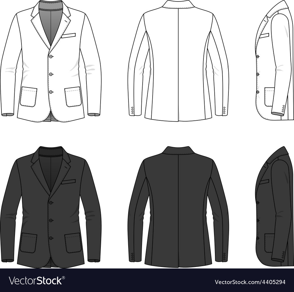 Simple outline drawing of a blazer vector | Price: 1 Credit (USD $1)