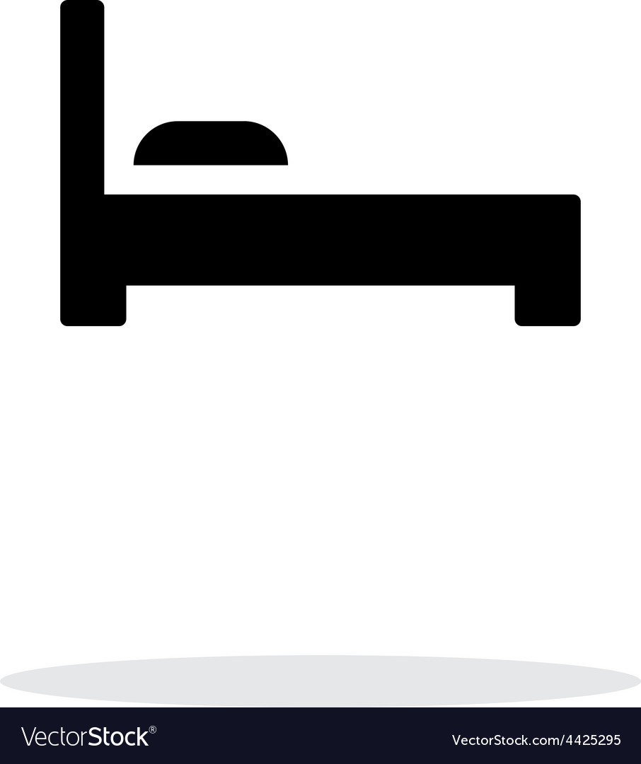 Bed simple icon on white background vector | Price: 1 Credit (USD $1)
