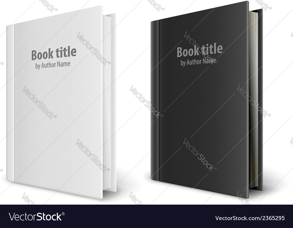 Books templates with white vector | Price: 1 Credit (USD $1)
