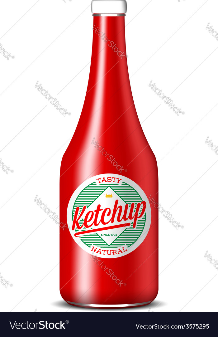 Bottle of ketchup vector | Price: 1 Credit (USD $1)