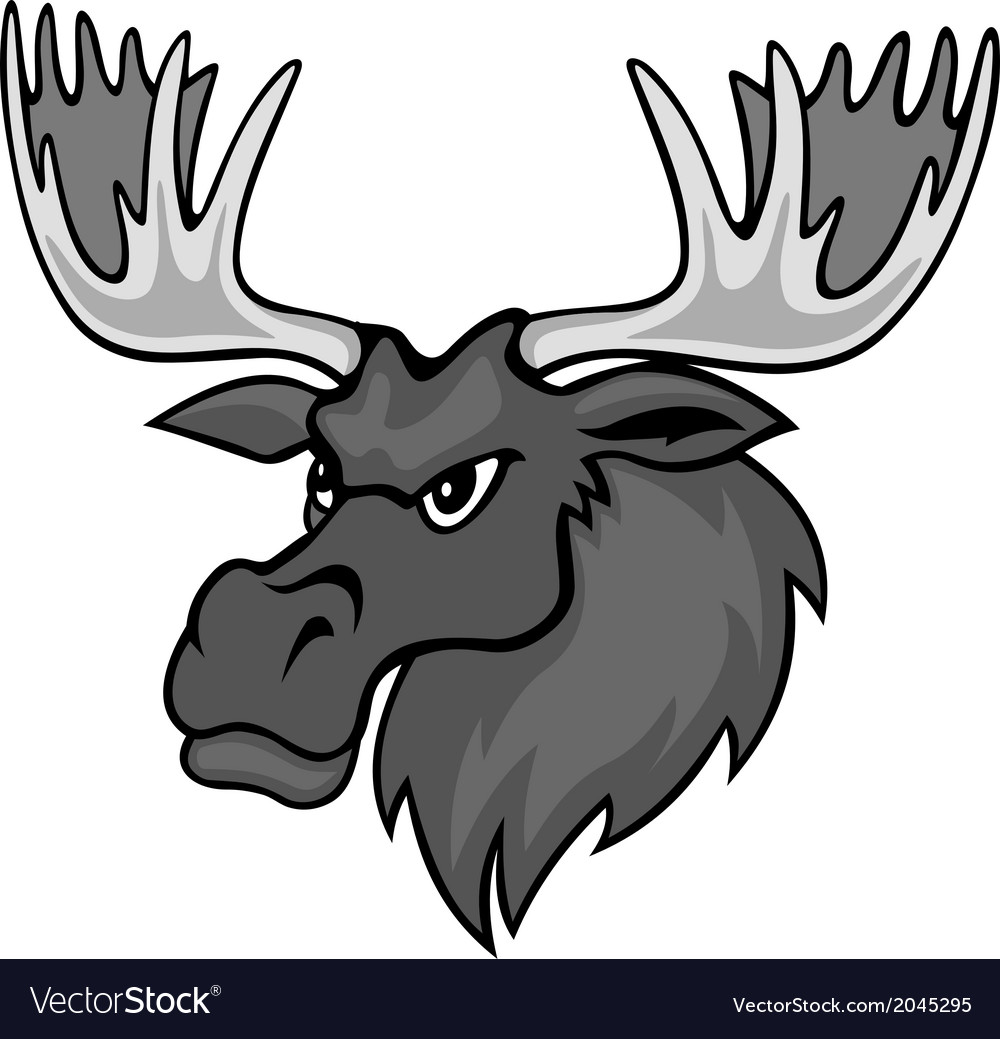 Cartoon moose vector | Price: 1 Credit (USD $1)