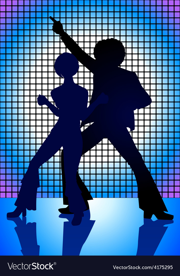 Disco dancing vector | Price: 1 Credit (USD $1)