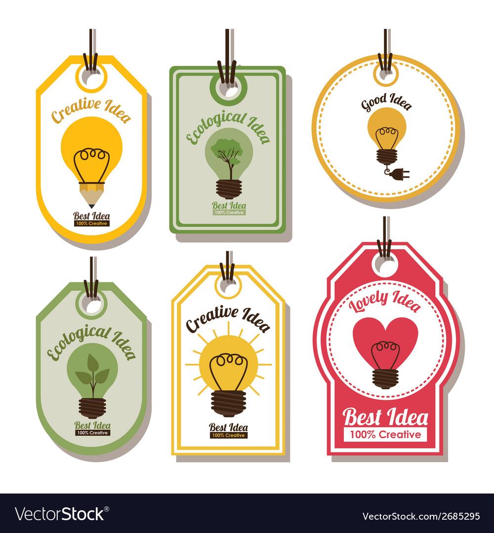 Ecological idea design vector | Price: 1 Credit (USD $1)