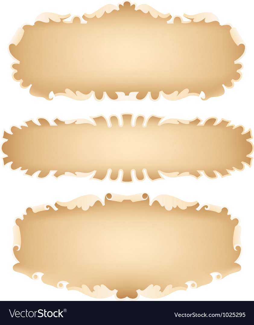 Old scroll set vector | Price: 1 Credit (USD $1)
