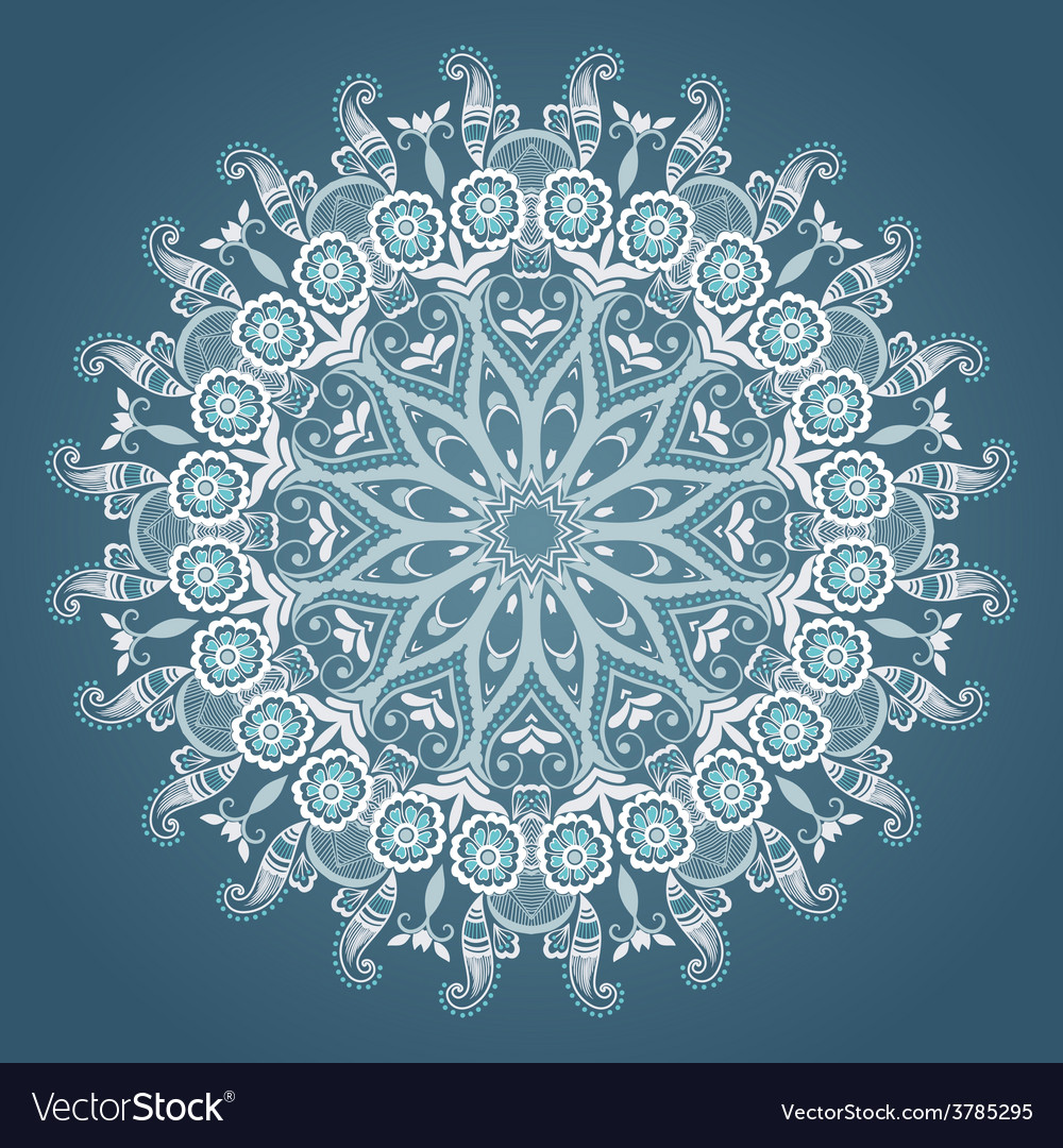Ornamental round lace with damask and vector   Price: 1 Credit (USD $1)