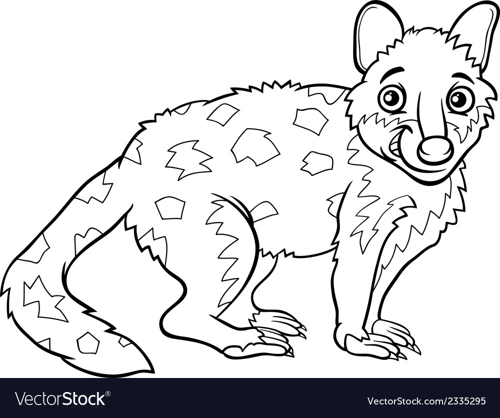 Tiger quoll animal coloring book vector | Price: 1 Credit (USD $1)