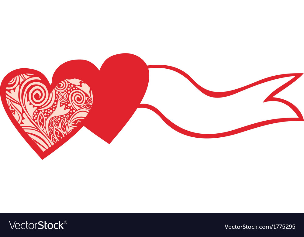 Two hearts valentines day vector   Price: 1 Credit (USD $1)