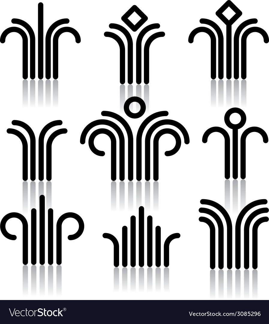 Abstract symbols set vector   Price: 1 Credit (USD $1)