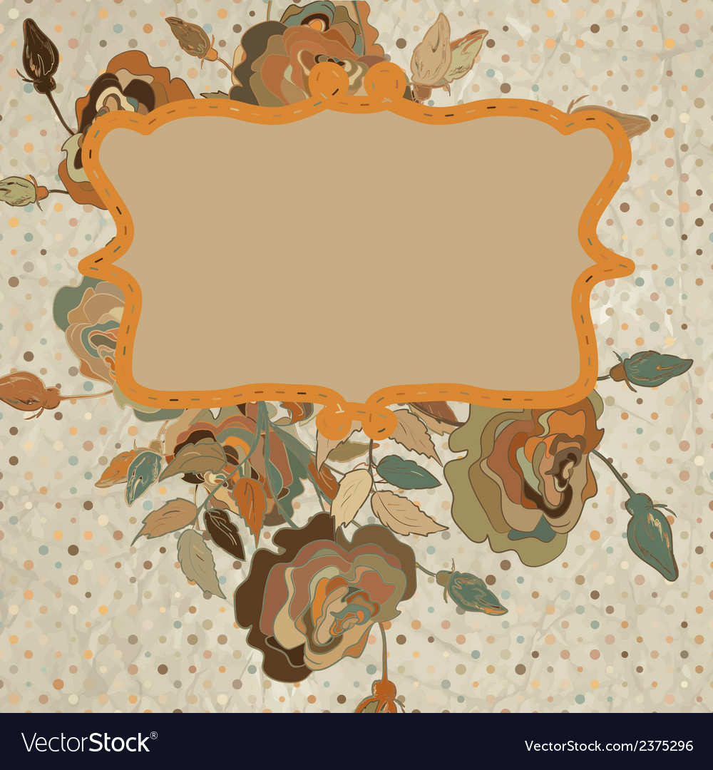 Art floral vintage colorful background eps 8 vector | Price: 1 Credit (USD $1)