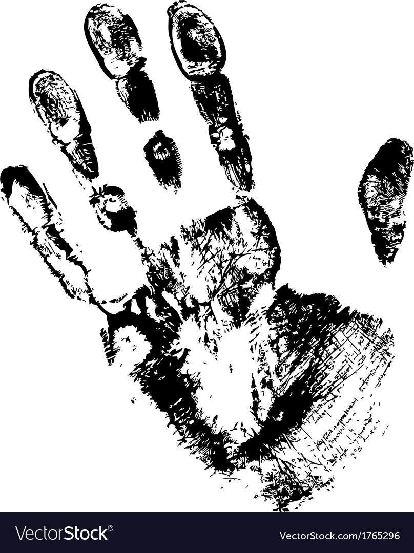 Black print of hand vector | Price: 1 Credit (USD $1)