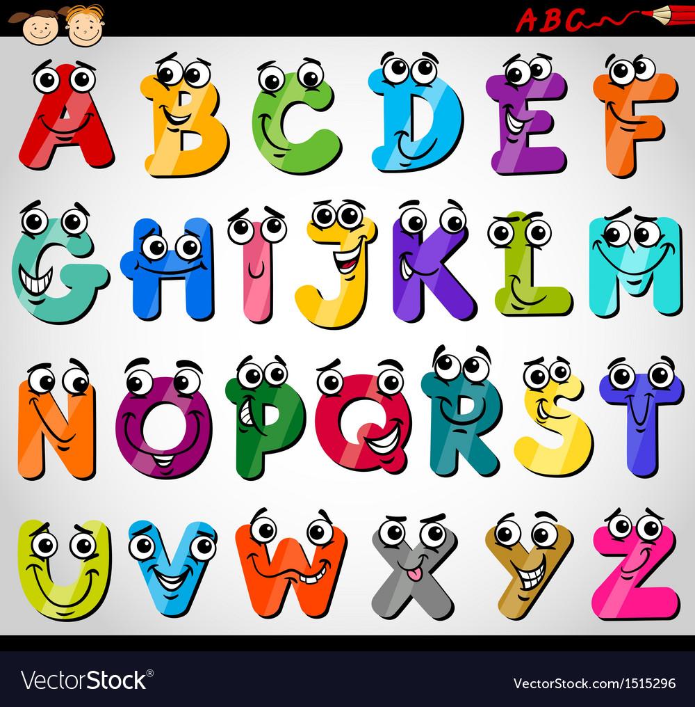 Capital letters alphabet cartoon vector   Price: 3 Credit (USD $3)